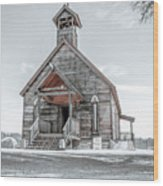 Old West Church Wood Print