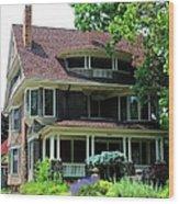 Old West End  Purple 4 Wood Print