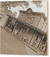 Old Western Town Wood Print