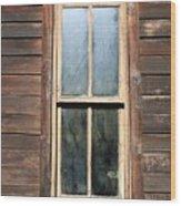 Old Western Window Wood Print