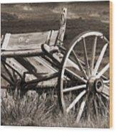 Old Wheels 2 Wood Print