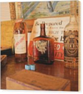Old Whiskey Wood Print