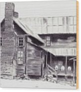 Old Willard Home Wood Print