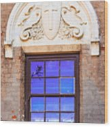 Old Window Mission San Buenaventura Wood Print