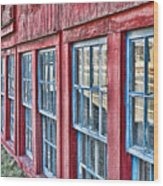 Old Windows Wood Print