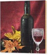 Old Wine Bottle Wood Print by Carlos Caetano