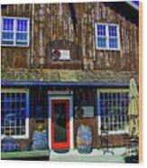 Old Wine Shop Wood Print
