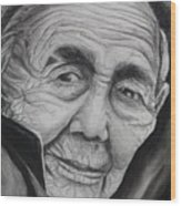 Old Woman Wood Print