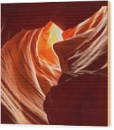 Old Woman In The Canyon Wood Print