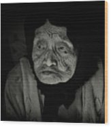 Old Woman Of Ha Long Bay Wood Print