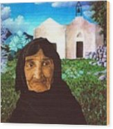 Old Woman Of Kritsa Wood Print