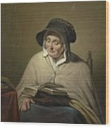 Old Woman Reading, Cornelis Kruseman, 1820 - 1833 Wood Print
