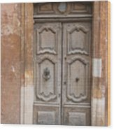 Old Wood Door - France Wood Print