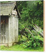 Old Wood Shed Wood Print by Scott Hovind