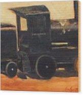 Old wood toy train  Wood Print