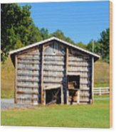 Old Wooden Barn  Wood Print