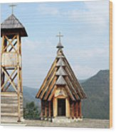 Old Wooden Church And Bell Tower Wood Print