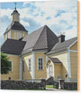 Old Wooden Church  Wood Print