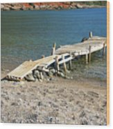 Old Wooden Dock Wood Print