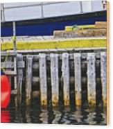 Old Wooden Pier In Newfoundland Wood Print