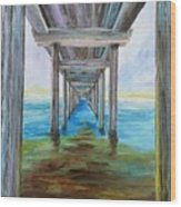 Old Wooden Pier Wood Print