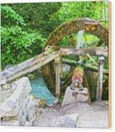 Old Wooden Water Wheel  Wood Print