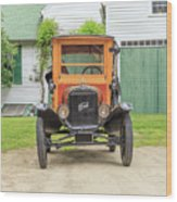 Old Woodie Model T Ford  Wood Print