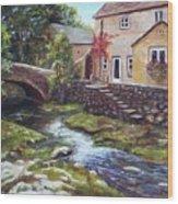Old World Cottage Wood Print
