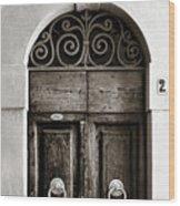 Old World Door Wood Print