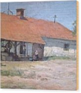 Old  World Slovenian Farmhouse Wood Print