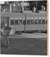 Old Ybor City Trolley Wood Print