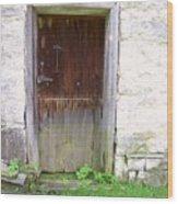 Old Yingling Flour Mill Door Wood Print by Don Struke