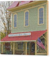 Olde Country Store Wood Print