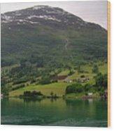 Olden Fjord, Norway Wood Print