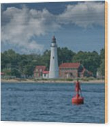 Oldest Lighthouse In Michigan Wood Print