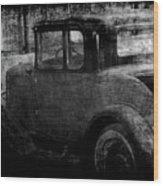Oldie 1 Bw Wood Print