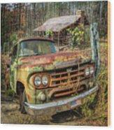 Oldie But Goodie 1959 Dodge Pickup Truck Wood Print