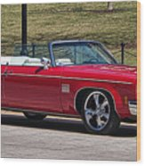 Oldsmobile Delta Royale 88 Red Convertible Wood Print