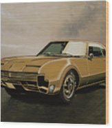 Oldsmobile Toronado 1965 Painting Wood Print