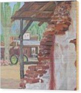 Oldtown Wood Print