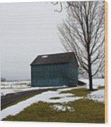 Ole Blue Wood Print