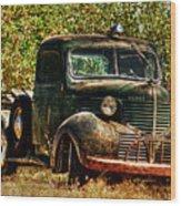 Ole Dodge And Apples Wood Print