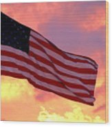 Ole Glory Wood Print