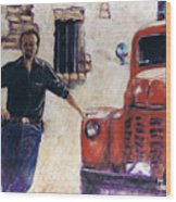Ole Red And The Master Mechanic Wood Print