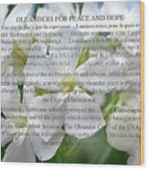 Oleanders For Peace And Hope Wood Print