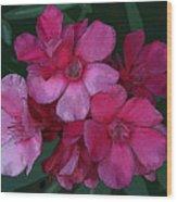 Oleanders In Pink Wood Print