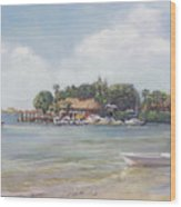 O' Leary's Tiki Bar And Grill On Sarasota Bayfront Wood Print