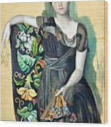 Olga In An Armchair Wood Print