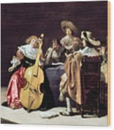 Olis: A Musical Party Wood Print
