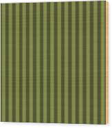 Olive Green Striped Pattern Design Wood Print